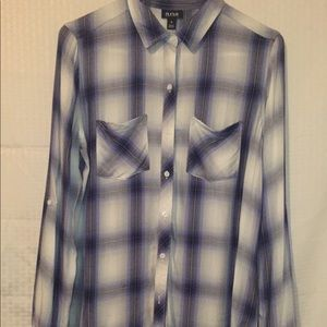 A.n.a Shirt button down long sleeve,S